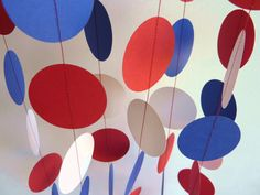 Paper Garland Red White Blue 4th of July by FabulouslyHomemade, $10.00