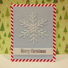 Stitched Snowflake Christmas Card