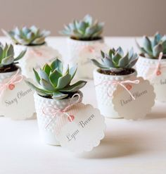 Plants that double as escort cards are always a good idea.