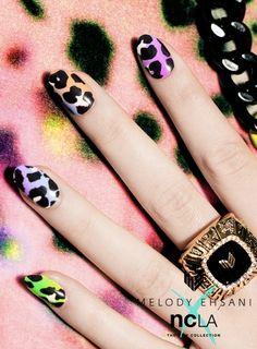 NCLA x MELODY EHSANI • Pastel Pantera• nail wraps!