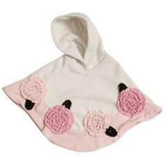 Bonnie Jean Baby | Bonnie Jean Floral Fleece Hooded Poncho - Baby