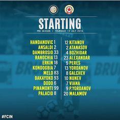Inter vs CSKA Sofia - feuille de match ! #fcinternazionale #fcim #inter #cskasofia #sofia #lineup