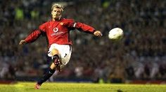 David Beckham Free Kick Tutorial: How to Bend It Like Beckham Soccer Drawing, Bend It Like Beckham, Free Kick, Man United, David Beckham, Manchester United, Premier League, Kicks, The Unit