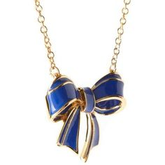 Ted Baker Maia Small Cobalt Blue Bow Necklace-- gorgeous!!
