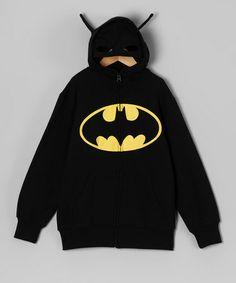 Loving this Black Batman Zip-Up Hoodie - Toddler on #zulily! #zulilyfinds