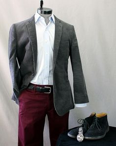 How To Wear It: Burgundy Chinos | Dappered.com