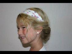 Haarband met ingedraaid haar - YouTube