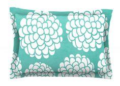 Hydrangea's Blossoms by Pom Graphic Design Circles Cotton Pillow Sham