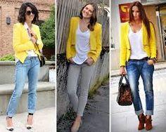 como combinar chaqueta amarilla - Buscar con Google