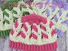 731a5e1504 Ravelry  Chocolate Strawberries Beanie pattern by Kim Guzman Crochet Beanie  Hat