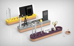 One Piece desk organizer, clever cuts and color gradients. | MOCO LOCO