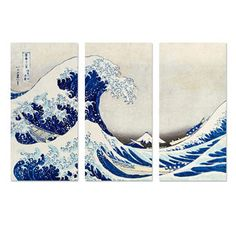 The Great Wave Triptych, $184, now featured on Fab.