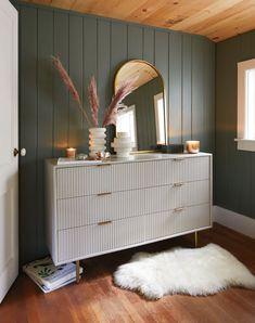 White Nightstand, Wood Nightstand, Wood Dresser, Modern Dresser, Dresser Ideas, Ikea Dresser, 6 Drawer Dresser, West Elm, Furniture Makeover