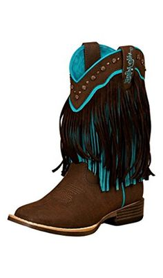8472ef8cf Blazin Roxx Toddler-Girls  Candace Zipper Fringe Boot Square Toe Brown US.  Top quality man made materials.