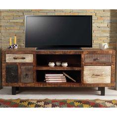 Tv lowboard holz  Dieses TV-Lowboard mischt klassische Farben und Texturen mit ...