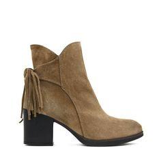 Gaimo Knotted Camel Anckle Boots | spanishoponline.com