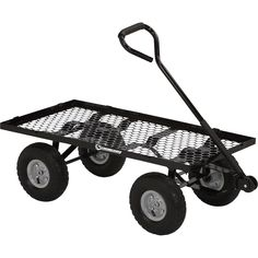 This Strongway Steel Cart's heavy-gauge reinforced steel construction gives it the strength to haul loads up to 800 lbs. Great for hauling patio blocks, firewood, gardening supplies and other lawn and garden jobs. Fold the 9.6in.H sidewalls down for easy loading/unloading or remove them to haul bigger jobs.