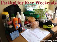 Packing for Race Weekends