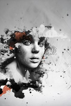 Angelika Kural is a Graphic Artist from Kraków, Poland who creates the artistic graphics by blending portrait photographs with digital elements by playing around with 37 watercolour brushes. Looks Kylie Jenner, Design Art, Graphic Design, Design Layouts, Grid Design, Graphic Art, Creative Artwork, Beautiful Artwork, Beautiful Things