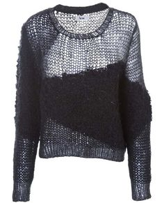 Acne-Textured-loose-knit-jumper