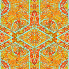 Tangarine Dreams fabric by edsel2084 on Spoonflower - custom fabric