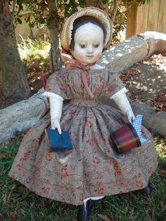 Izannah Walker style primitive Art Doll by Robin's Egg Bleu | eBay