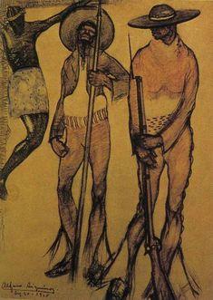 El señor del Veneno. 1918.  Acuarela y lápiz de color. 58 x 46 cm.  Colección privada.