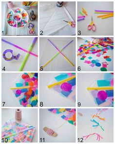 Contact Paper Confetti Kite