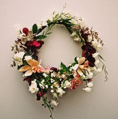 gorgeous flower wreath