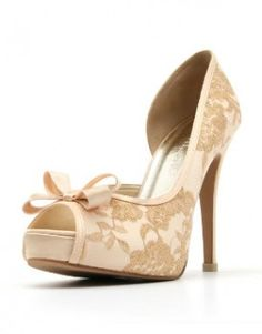 Lady Catherine Gold Lace ~ By: Christy Ng http://www.wedding.com.my/category-accessories-and-shoes/2