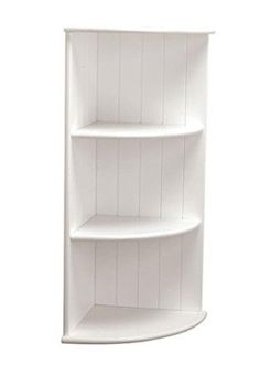 3 Tier White Corner Shelving Unit, Home, Bathroom, New
