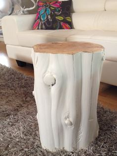 White stump tables! Ottawa, Ontario, Canada Modern twist on stump tables. Can be painted white, silver or gold. Serenitystumps.com
