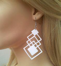 ON SALE 25 off Baronyka Geometric Earrings Geometric by Baronyka
