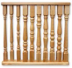 Деревянная балясина - точеный брусок для перил