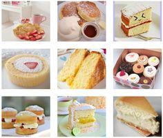 9つのケーキの組合わせ画像