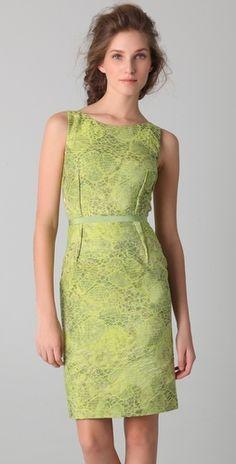 Peter Som - Croc Jacquard Dress. Great color.