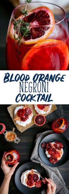 Blood Orange #Negroni #Cocktail Recipe - Unique Variant