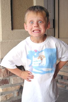 Kids Craft: Diy Kids Painted T Shirts