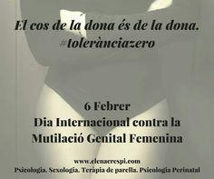 [Dia Internacional contra la Mutilació genital Femenina] El cos de la dona és de la dona! #nosaltresdecidim #tolerànciazero www.elenacrespi.com Cards Against Humanity, Personalized Items, The Believer, International Day, International Day Of, Therapy, Psicologia