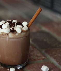 Amp up your hot chocolate with cinnamon and vodka.