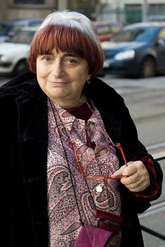 """Agnès Varda such a stubborn and strong woman, i love her!  """"If I was tall and blonde, I might have been a dancer or singer. No, I'm not tall, I'm not blonde, I've never had a concert. You have to invent life.""""  -Agnès"""