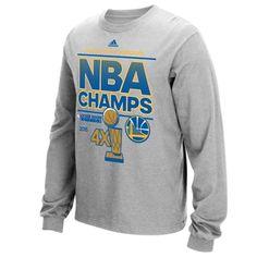 Golden State Warriors adidas 2015 NBA Finals Champions Locker Room Long Sleeve T-Shirt - Gray
