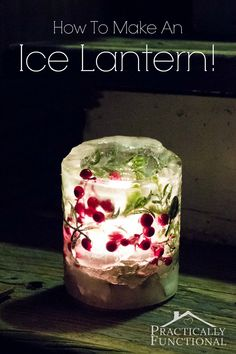 Ice lanterns are gorgeous decor that's quick and easy to make! Learn how to make ice lanterns in a few simple steps for under $5!