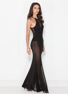 Not finding yourself particularly sexy tonight? You'll feel so *mesh* better when you slip into this mermaid maxi dress.