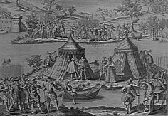 The Peace of the Ile aux Bouefs, near Orleans, signed between Catherine de Medici and the Constable Anne de Montmorency