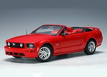 Santas Tools and Toys Workshop: Toy: 1/18 Scale AutoArt 2006 Ford Mustang GT Convertible in Red