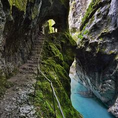 andreatestina on Instagram. LOCATION:  Tolmin Gorges, Slovenia.