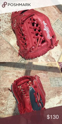 Baseball Glove This is a Rawlings 11.5 inch glove! My boyfriend is going to a different school next year and it isn't the school colors. It is in perfect condition. Only used a few times. Rawlings Other