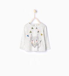 Camiseta algodón orgánico animales - Organic cotton - Bebé niña   3 meses - 3 años - NIÑOS   ZARA México
