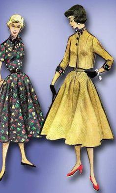 1950s Original Charming McCall's Bolero Suit Pattern Sz 31 B | eBay